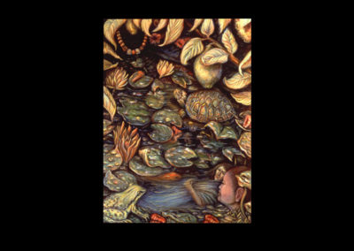 "The Garden of Forgiveness, 1992, oil on canvas, 32"" x 24"""