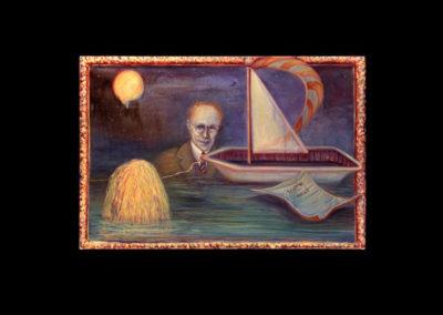 "Nightmare, 1995, oil on canvas, 20"" x 30"""