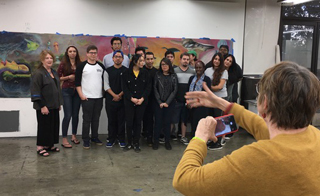 Gilah Hosts Artist Joyce Kozloff at CSUDH