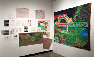 Emerging Dimensions Mural Exhibition by CSUDH Art Students