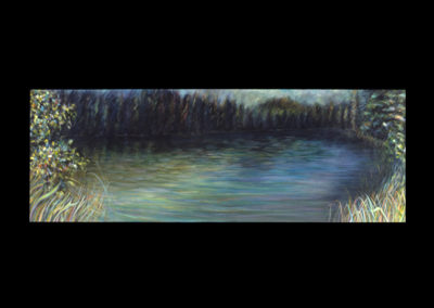 """At the Edge, 1986, oil on canvas, 30"""" x 84"""""""