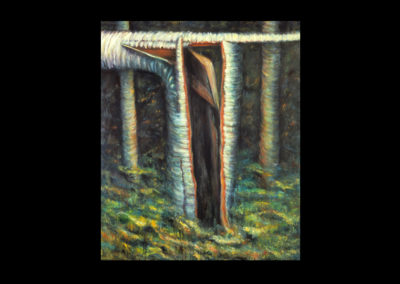 """Dignity, 1986, oil on canvas, 65"""" x 54"""""""