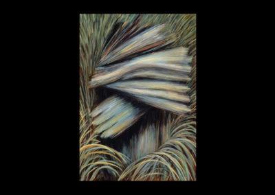 "Grief, 1985, oil on canvas, 24"" x 18"""
