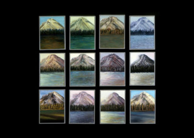 """Rundle Quilt, 1985, oil on canvas, 12 of 9"""" x 12"""""""