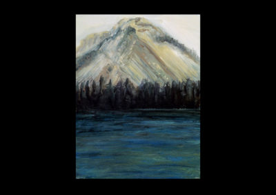 """Rundle 2, 1985, oil on canvas, 12 of 9"""" x 12"""""""
