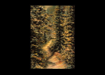"""The Trail, 1985, oil on canvas, 24"""" x 16"""""""