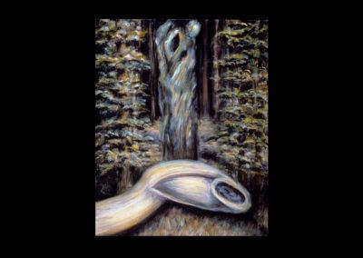 """Sacrifice, 1985, oil on canvas, 30"""" x 24"""""""