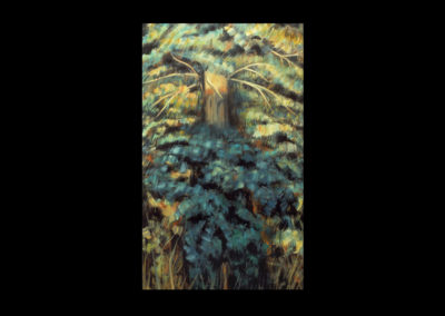 """Spirit in the Tree, 1985, oil on canvas, 44"""" x 22"""""""