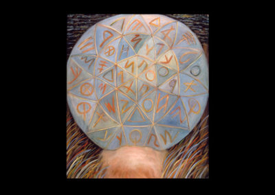 Revelation (Cosmography), 1985, oil on canvas, 72″ x 65″