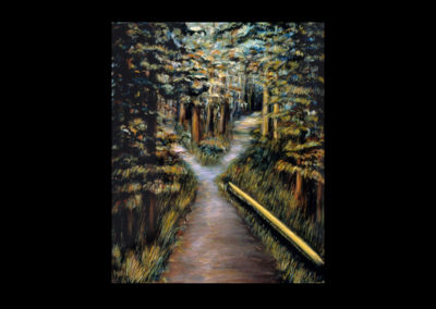 """The Fork in the Road, 1985, oil on canvas, 30"""" x 24"""""""