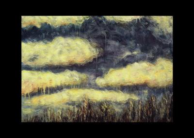 """Mirage #1, 1987, oil on canvas, 28"""" x 40"""""""