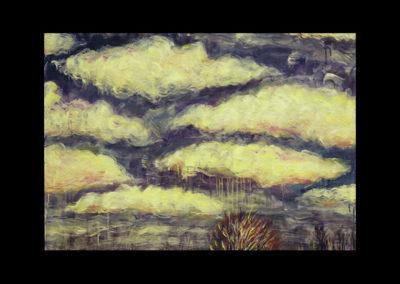 """Mirage #2, 1987, oil on canvas, 28"""" x 40"""""""