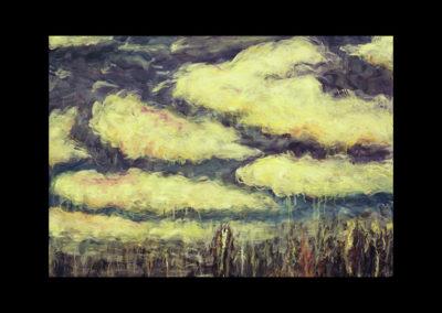 """Mirage #3, 1987, oil on canvas, 28"""" x 40"""""""