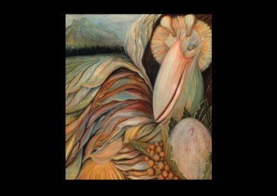 """Annunciation, 1985, oil on canvas, 85"""" x 72"""""""
