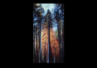 "Rim, Homage to Emily #02, 1989, acrylic on canvas, 30"" x 15"""