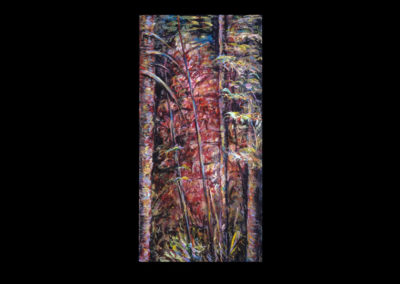 """Rim, Apse in Flame, 1989, acrylic on canvas, 24"""" x 12"""""""