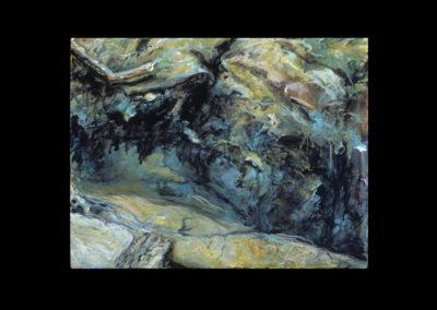"Rim, Illusion of Dilution #17, 1990, acrylic on linen, 14"" x 11"""