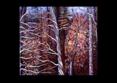 "Rim, Jacobs Ladder #14, acrylic on canvas, 2 panels, 30-1/4"" x 17-1/4"" each"